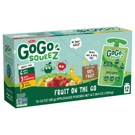 Variety 12-Pack GoGo squeeZ<sup>®</sup> Apple, Banana, Strawberry
