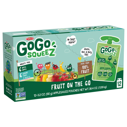 Variety 12-Pack GoGo squeeZ<sup>®</sup> Apple, GimmeFive