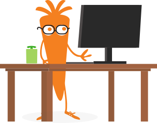 Carrot at a desk